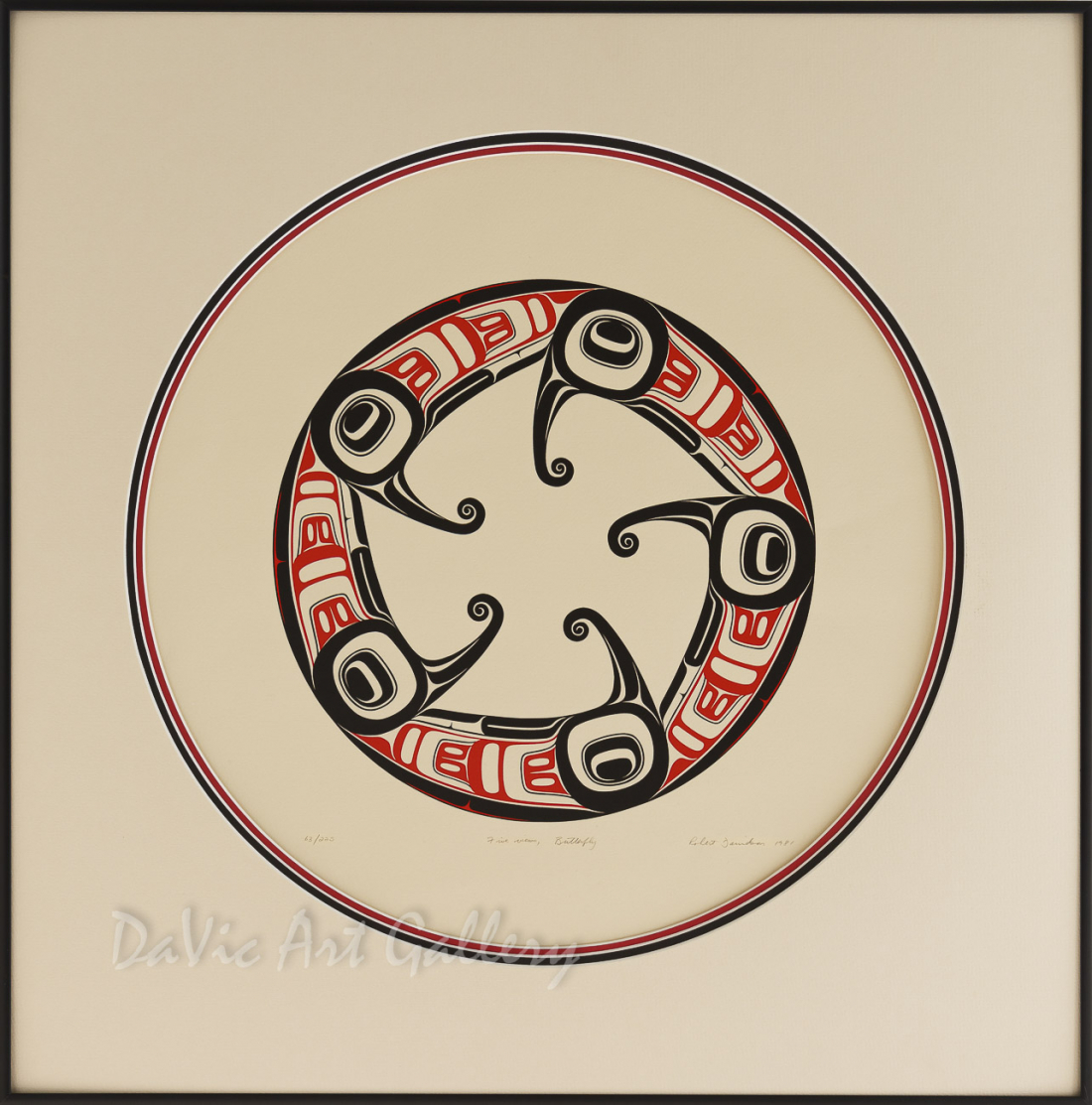 Five Views, Butterfly by Robert Davidson 1981 - Northwest Coast - Haida