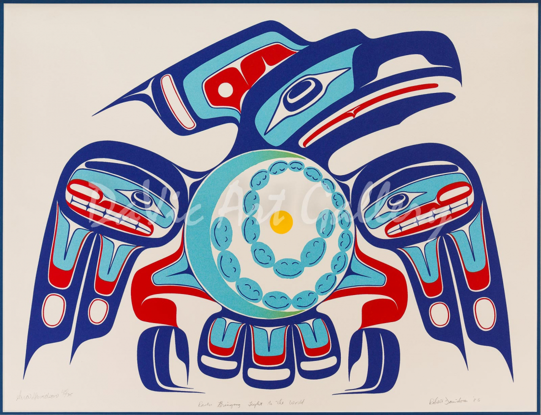 Raven Bringing Light to the World by Robert Davidson 1985 - Northwest Coast - Haida