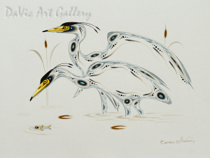 Great Blue Herons by Eddy Cobiness 1994