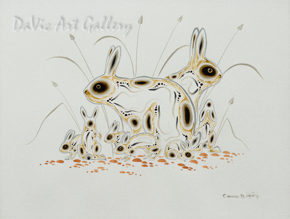 Rabbit Family by Eddy Cobiness 1994