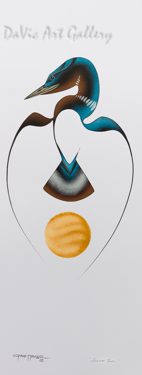 Common Loon by First Nations Cree artist Garnet Tobacco