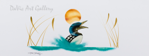 Untitled (Loon Dance) by First Nations Cree artist Garnet Tobacco
