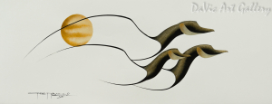 Untitled (Heading Back Home) by First Nations Cree artist Garnet Tobacco