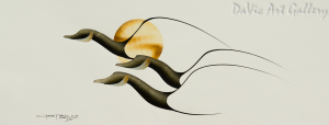 Untitled (This Way South) by First Nations Cree artist Garnet Tobacco