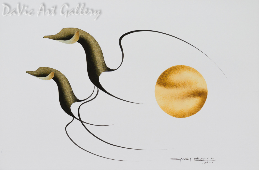 Untitled (Together) by First Nations Cree artist Garnet Tobacco