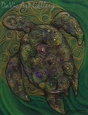 Full Moon Miikinaak (Turtle) by First Nations Anishinaabe artist Jackie Traverse