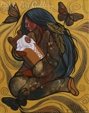 Mamas Little Cocoon by First Nations Anishinaabe artist Jackie Traverse