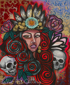 Aztec Queen by First Nations Anishinaabe artist Jackie Traverse