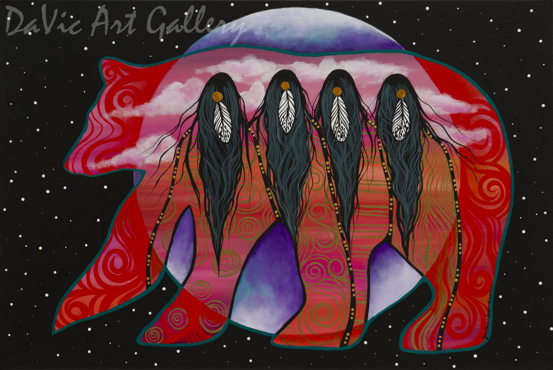 Bear Clan Women by First Nations Anishinaabe artist Jackie Traverse