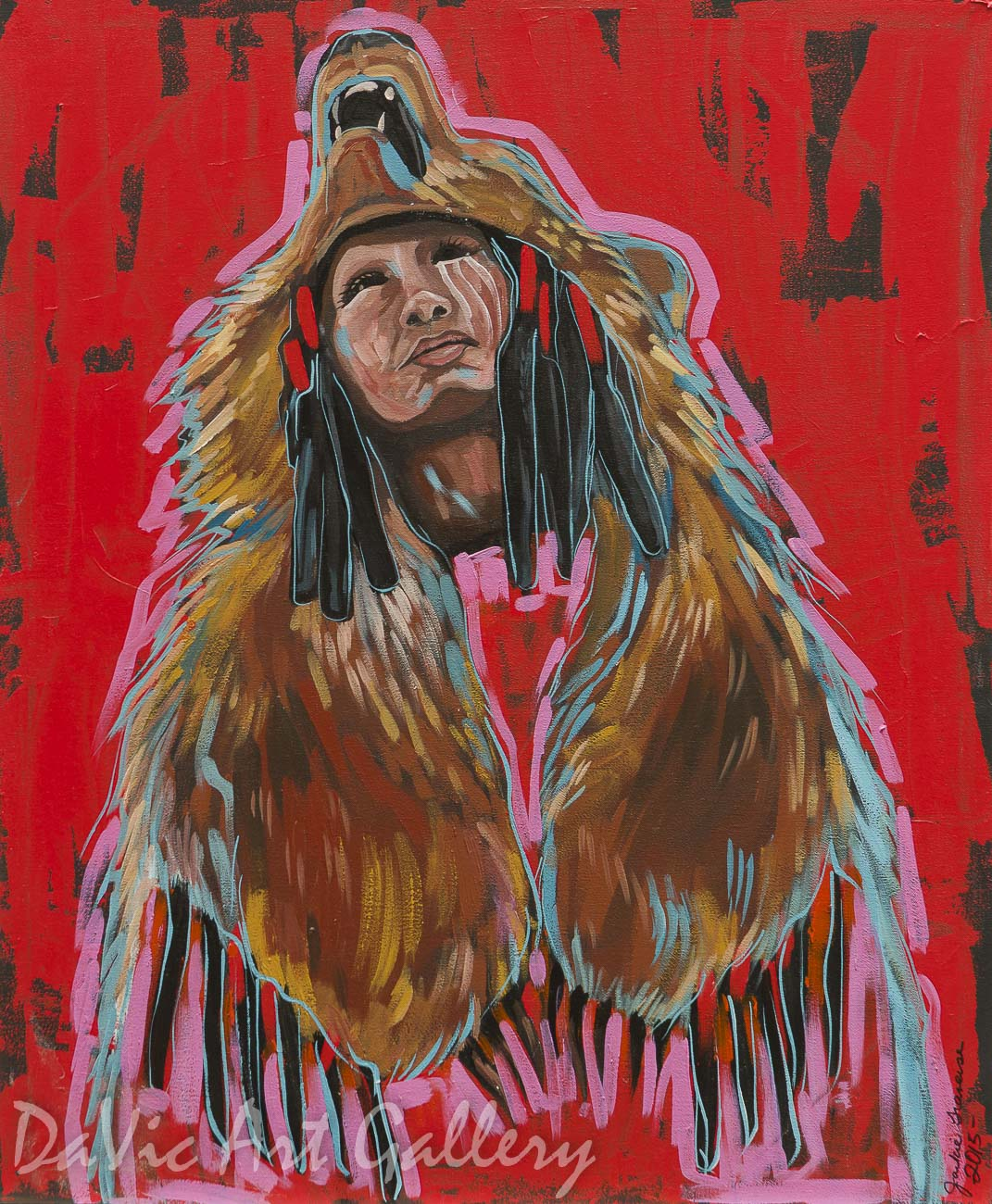 Bear Dancer by First Nations Anishinaabe artist Jackie Traverse