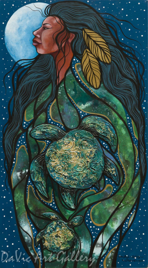 Mother Earth by First Nations Anishinaabe artist Jackie Traverse