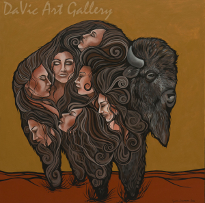 Seven Sisters by First Nations Anishinaabe artist Jackie Traverse