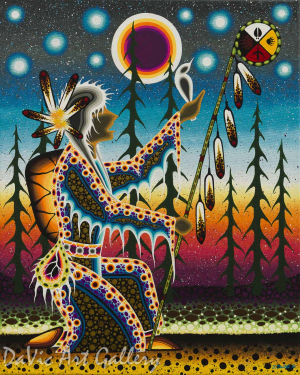 'In the Spirit of Honouring Our Ancestors' by First Nations Anishinaabe artist James Jacko