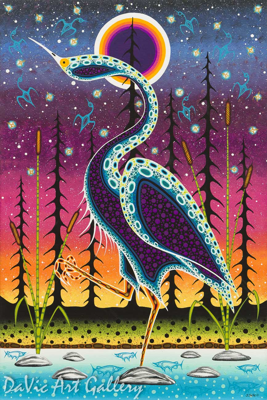 'Symbol of the Crane Clan' by First Nations Odawa artist James Jacko