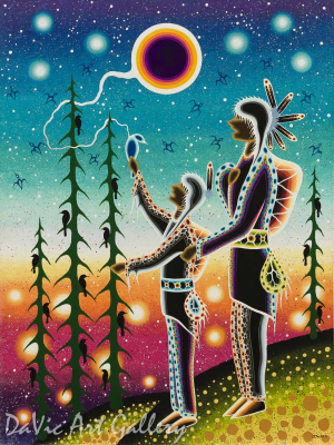 'Teachings From Our Grandfathers' by First Nations Odawa artist James Jacko
