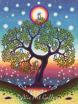 'The Tree of Knowledge' by First Nations Odawa artist James Jacko