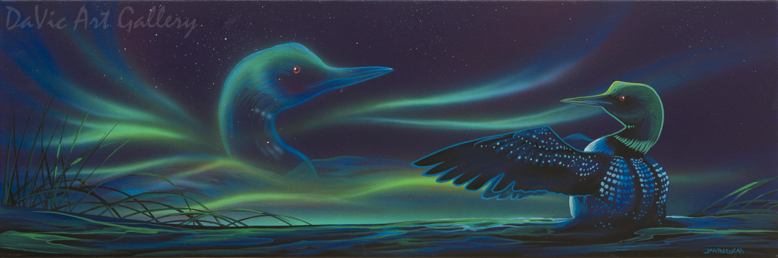 'Loon Dance' by First Nations Cree artist Jasyn Lucas