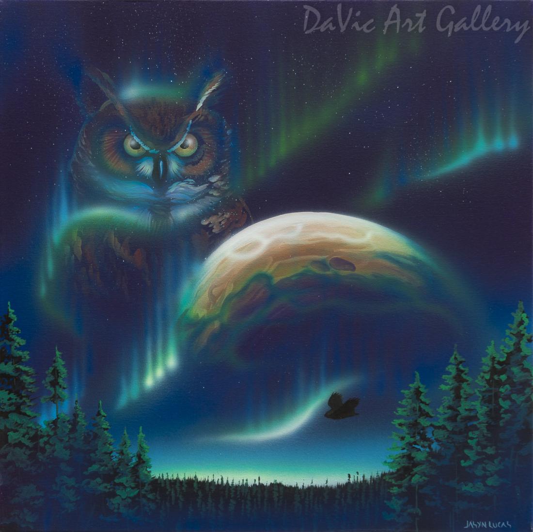 'Night Spirit' by First Nations Cree artist Jasyn Lucas