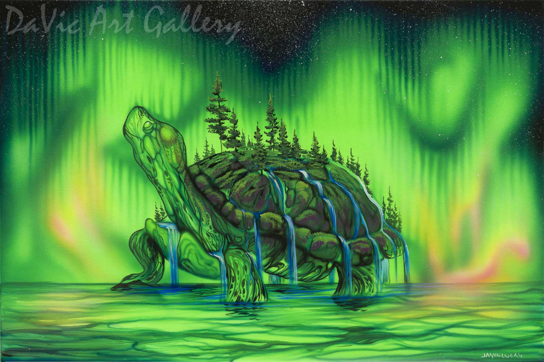 'Turtle Island' by First Nations Cree artist Jasyn Lucas