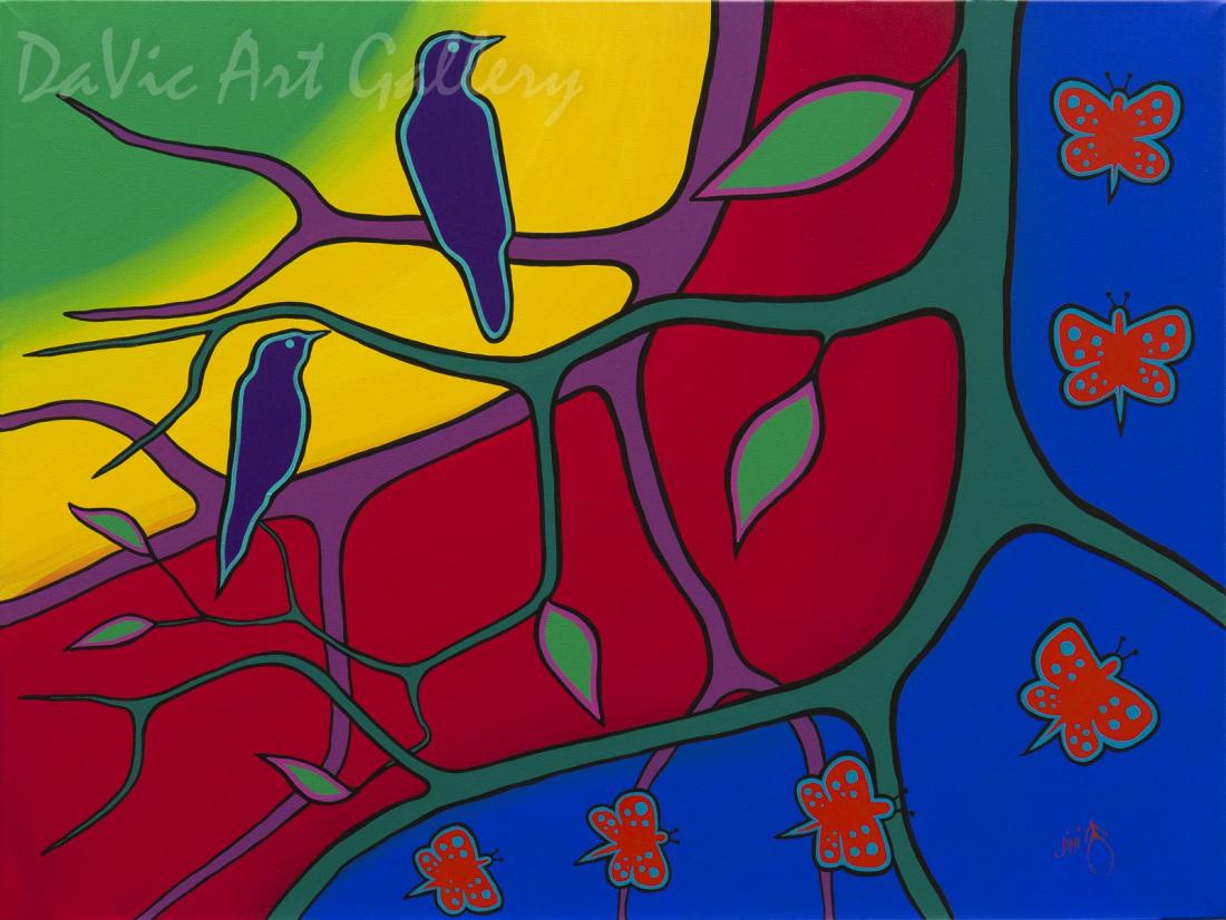 'Tree of Life' by First Nations Ojibwe artist Jim Oskineegish