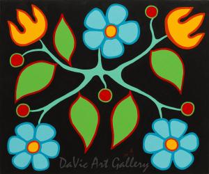 'Black Floral' by First Nations Ojibwe artist Jim Oskineegish
