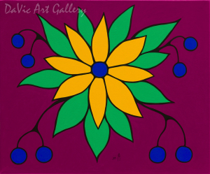 'Red Floral' by First Nations Ojibwe artist Jim Oskineegish