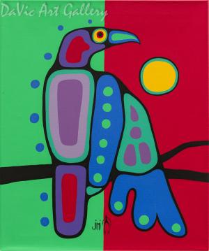 'Crow' by First Nations Ojibwe artist Jim Oskineegish