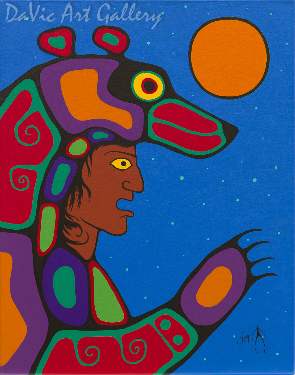 'Bear Sky' by First Nations Ojibwe artist Jim Oskineegish