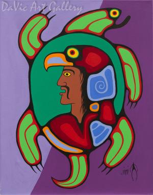 'Guardian Spirits' by First Nations Ojibwe artist Jim Oskineegish