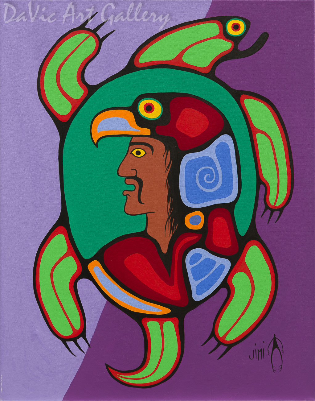 'Guardian Spirits' by First Nations Ojibwe artist Jim Oskineegish