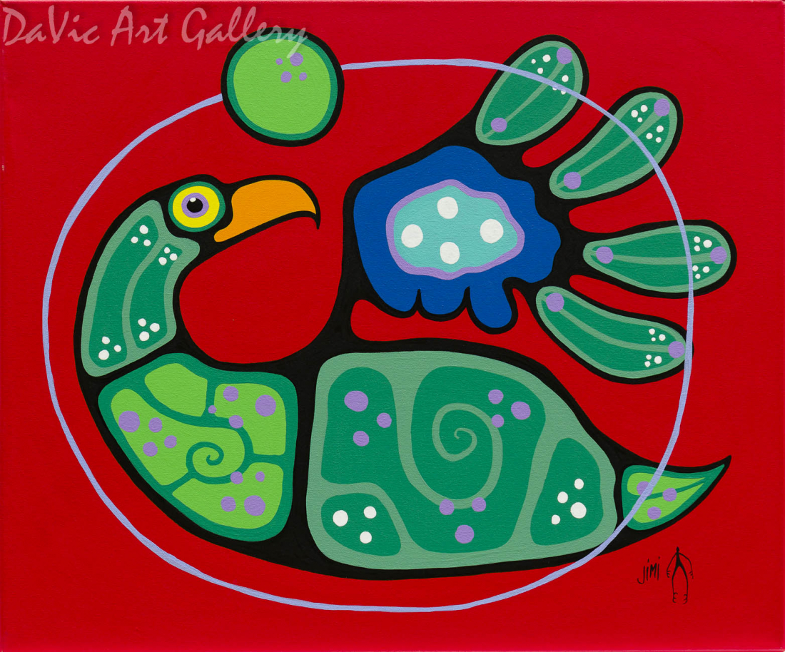 'Inner Beauty' by First Nations Ojibwe artist Jim Oskineegish