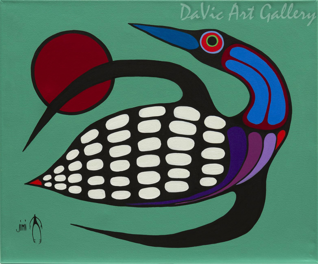 'The Majestic Loon' by First Nations Ojibwe artist Jim Oskineegish