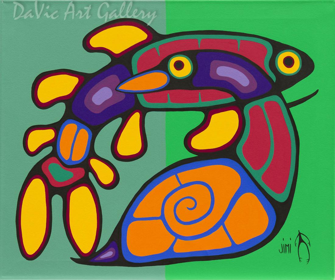 'United' by First Nations Ojibwe artist Jim Oskineegish