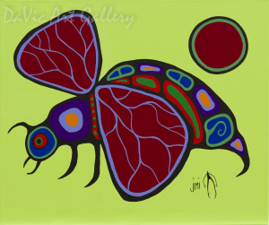 'Wasp' by First Nations Ojibwe artist Jim Oskineegish