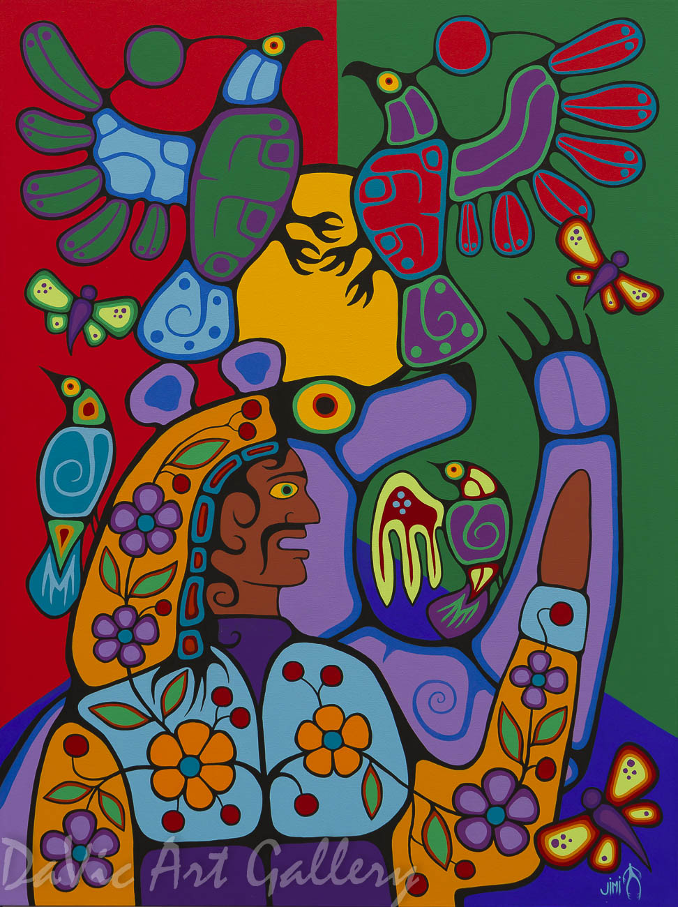 'Connect with Spirit' by First Nations Ojibwe artist Jim Oskineegish