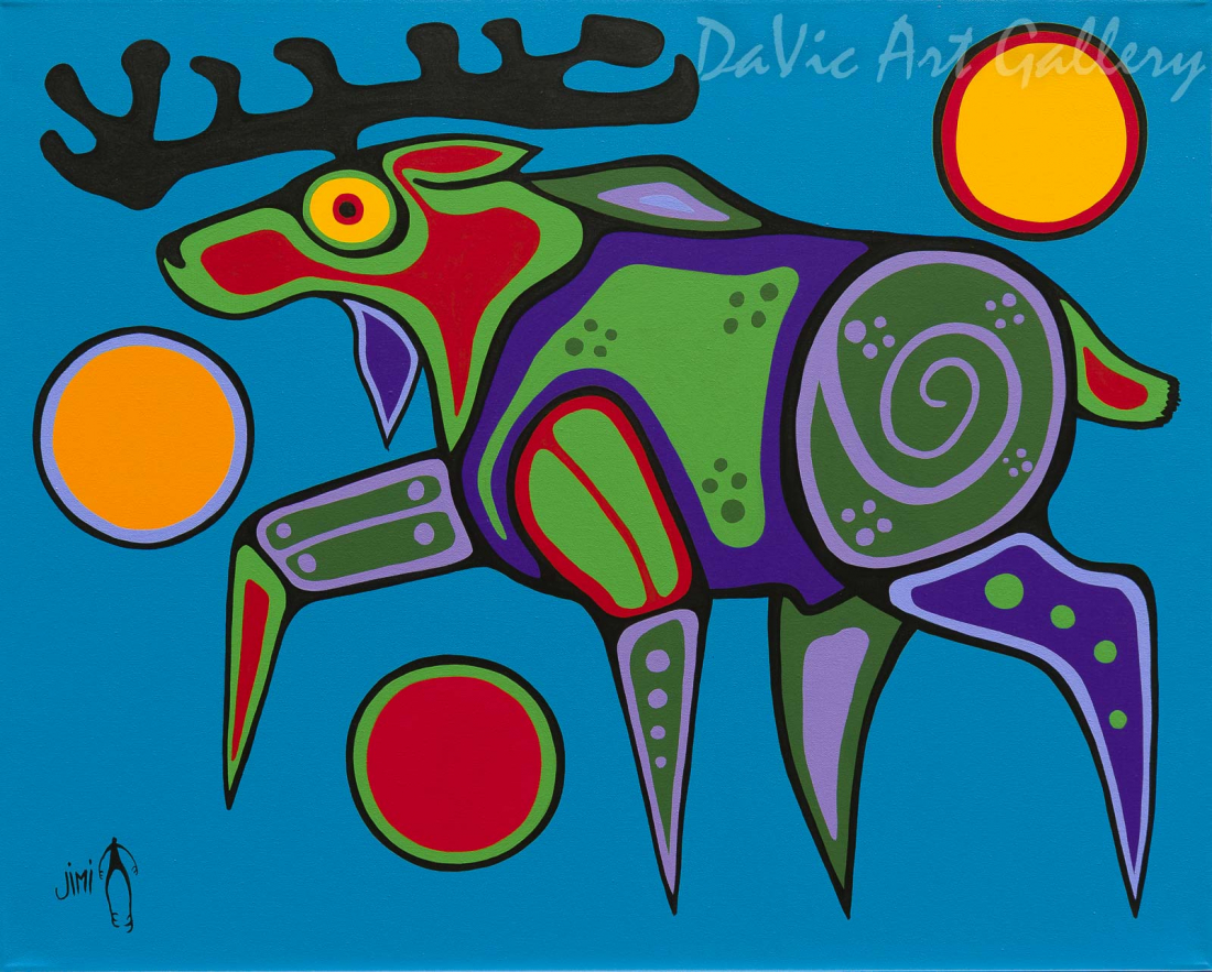 'Moose' by First Nations Ojibwe artist Jim Oskineegish