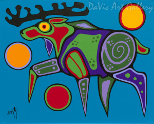 'Moose' by First Nations Ojibwe artist Jim Oskineegish