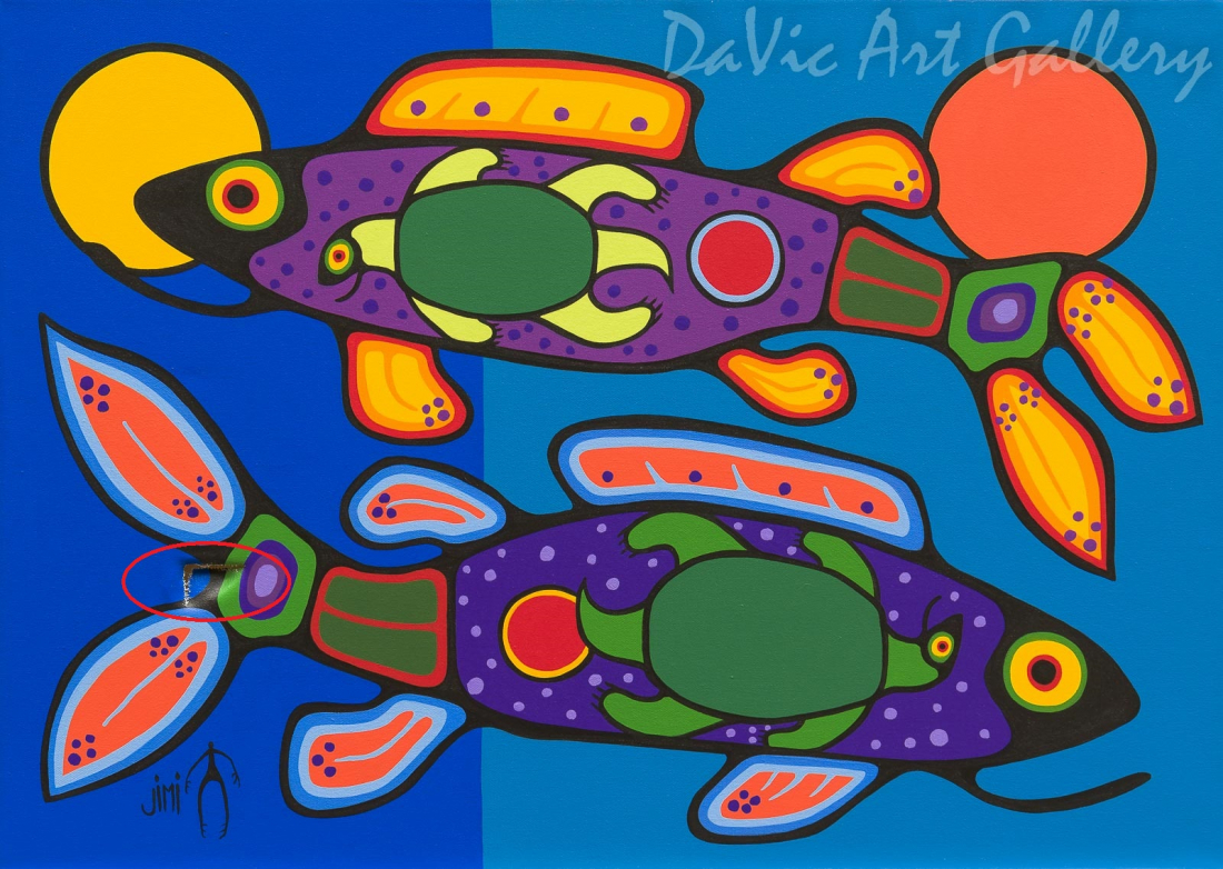 'Reflection' by First Nations Ojibwe artist Jim Oskineegish