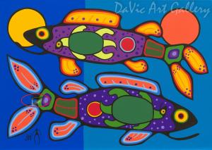 'Reflection' by First Nations Ojibwe artist Jim Oskineegish