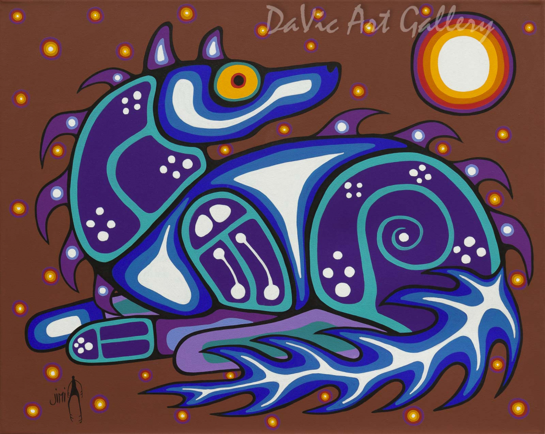 'Spirit Wolf' by First Nations Ojibwe artist Jim Oskineegish