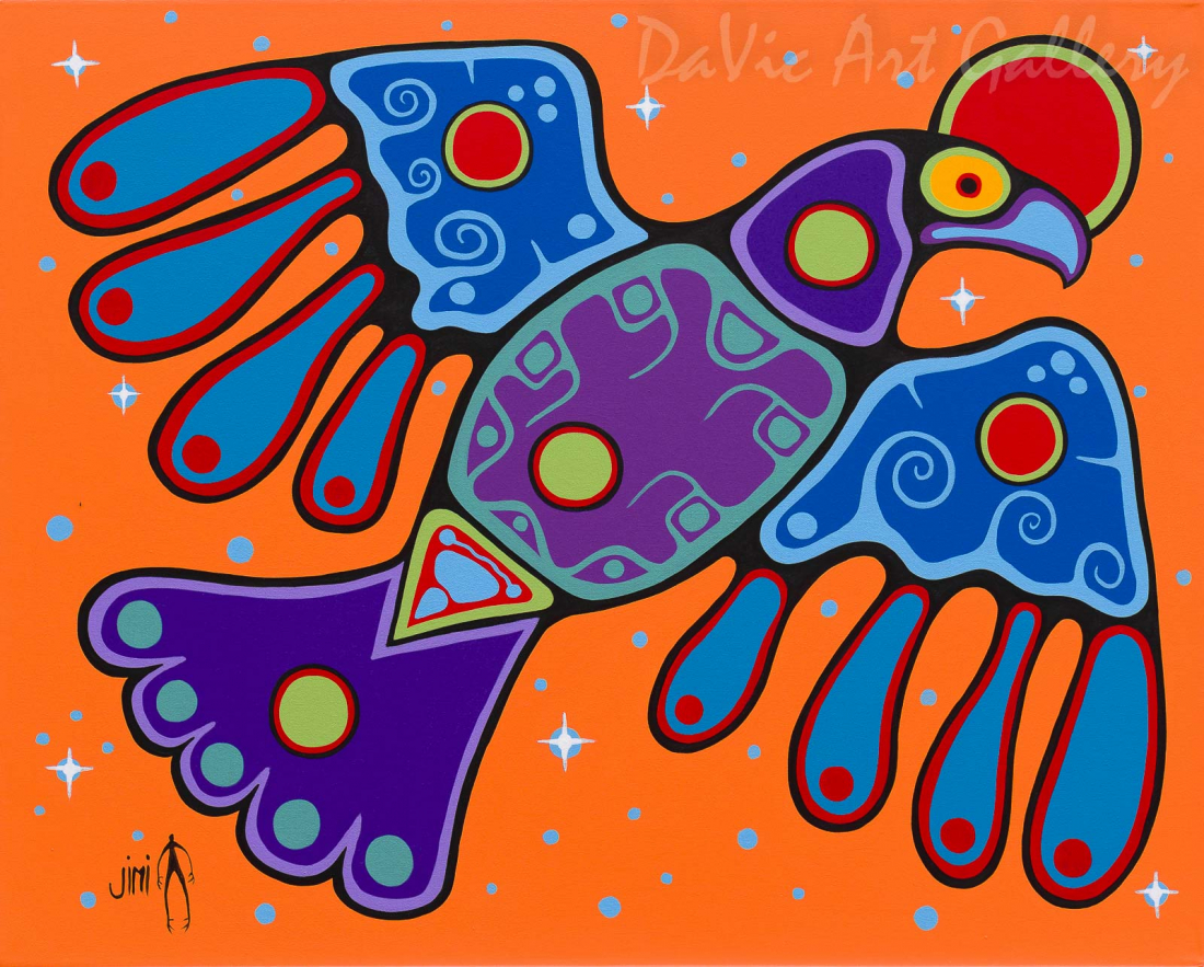 'Thunderbird' by First Nations Ojibwe artist Jim Oskineegish