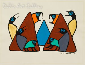 'Trees Chimtic' by First Nations Ojibwe artist John Laford