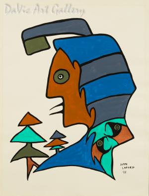 'Trees Chimtic Elm' by First Nations Ojibwe artist John Laford