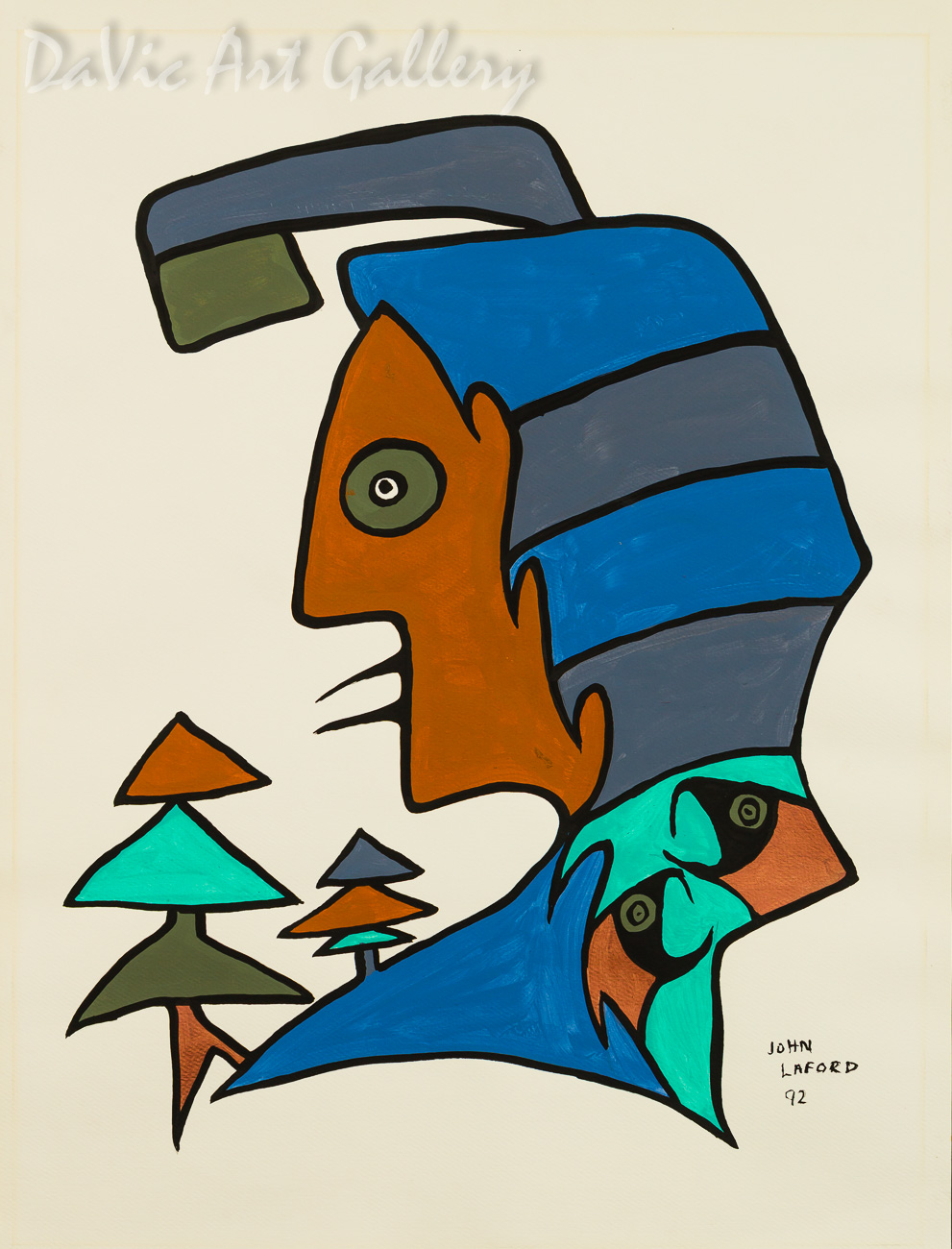 'Trees Chimtic Elm' by First Nations Ojibwe artist John Laford