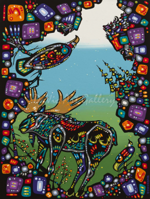 'Chances Rarely' by First Nations Dene artist John Rombough