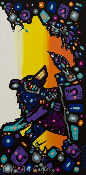 'Hunter' by First Nations Dene artist John Rombough