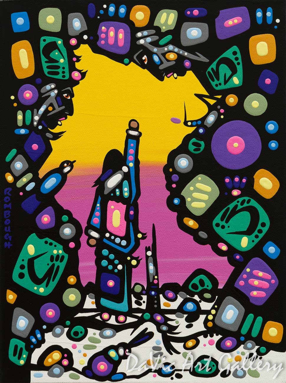 'Presenting Offering' by First Nations Dene artist John Rombough