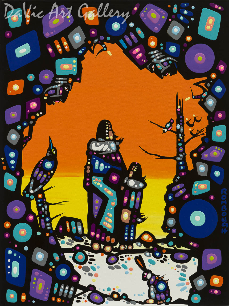 'Relationships' by First Nations Dene artist John Rombough