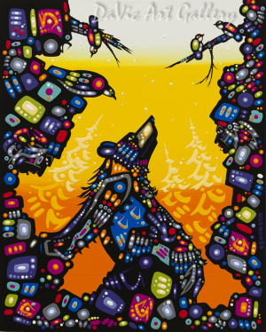 'Spend a Day With the Spirits' by First Nations Dene artist John Rombough