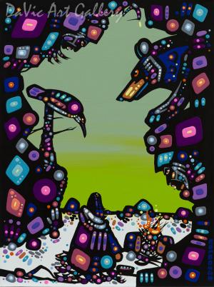 'Spirit Powers' by First Nations Dene artist John Rombough